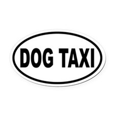 Dog Taxi Oval Car Magnet