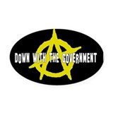 Anti-Gov't Oval Car Magnet