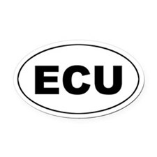 Ecuadorian (ECU) Oval Car Magnet