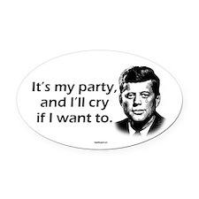 Kennedy - I'll Cry Oval Car Magnet