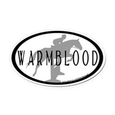 Hunter Jumper O/F (Warmblood text) Oval Car Magnet