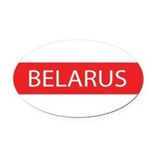 Belarus Full Name Oval Car Magnet