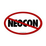 No Neocon Oval Car Magnet