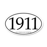 1911 Oval Car Magnet