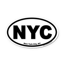 New York City NYC Oval Car Magnet