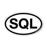SQL Oval Car Magnet
