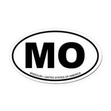 Missouri Oval Car Magnet