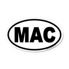 MAC Oval Car Magnet