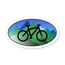 Mountain Bike Color Auto Decal (Oval)