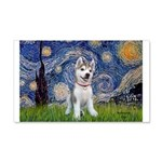 Starry-Siberian pup 20x12 Wall Decal