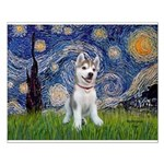 Starry-Siberian pup Small Poster