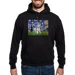 Starry-Siberian pup Hoodie (dark)