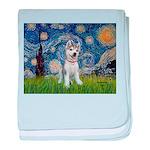 Starry-Siberian pup baby blanket