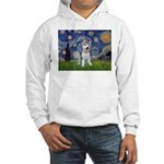 Starry-Siberian pup Hooded Sweatshirt
