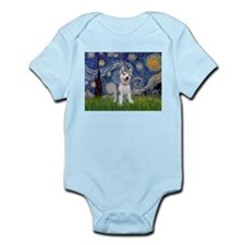 Starry-Siberian pup Infant Bodysuit