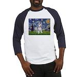 Starry-Siberian pup Baseball Jersey