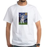 Starry-Siberian pup White T-Shirt