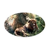 Lion Spirit Oval Car Magnet