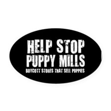 Funny Adopt a shelter animal Oval Car Magnet