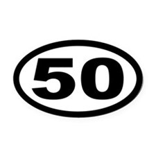 Ultramarathon 50 Mile Oval Car Magnet