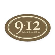 9-12 Principles-Values Oval Car Magnet