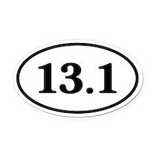 13.1 Half Marathon Runner Oval Car Magnet