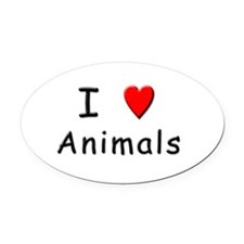 Unique Vegan baby Oval Car Magnet