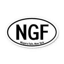 Niagara Falls, New York Oval Car Magnet