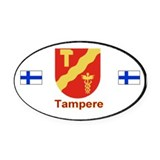 Tampere Automobile Oval Car Magnet