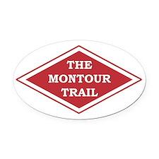 Montour Trail Oval Car Magnet