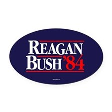 Reagan Bush '84 Campaign Oval Car Magnet