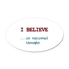 Cute Free thinker Oval Car Magnet