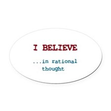 Cute Agnosticism Oval Car Magnet