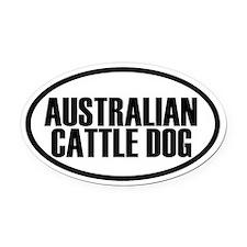 Australian Cattle Dog Oval Car Magnet