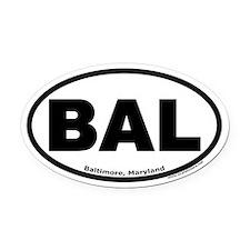 "Baltimore, Maryland ""BAL"" Oval Car Magnet"