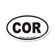 Corolla COR Euro Oval Car Magnet