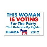 This Woman Is Voting-Car Magnet 20 x 12