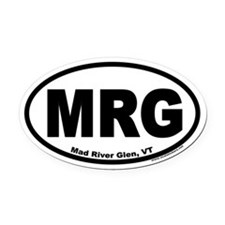 "Mad River Glen, Vermont ""MRG"" Oval Bumper Oval Car"