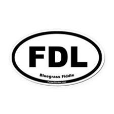 Fiddle Oval Car Magnet