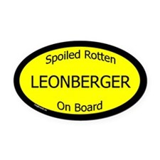 Spoiled Leonberger On Board Oval Car Magnet