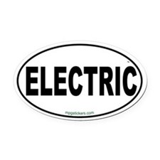 Electric Euro Oval Car Magnet