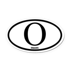 """O"" Barack Obama Euro Oval Car Magnet"