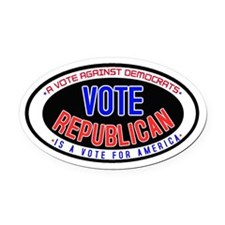 Vote Republican Oval Car Magnet