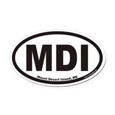 Mount Desert Island MDI Euro Oval Car Magnet