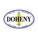 Doheny Surf Spots Oval Car Magnet