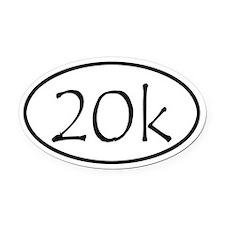 20k Run Oval Car Magnet