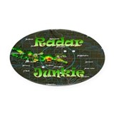 Radar Junkie Oval Car Magnet