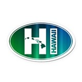 HI Hawaii - Oval Car Magnet