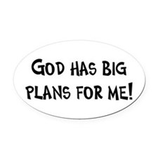 God's Plan for Me Oval Car Magnet