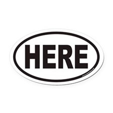 HERE Euro Oval Car Magnet